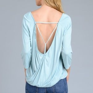 NWT Le lis collection open back 3/4 sleeve top